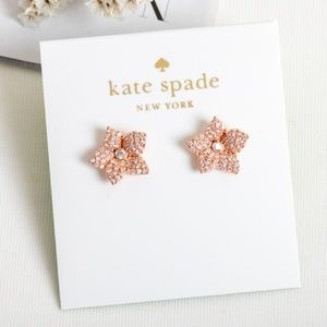 Kate Spade Bloom Pave small Earrings(Rose Gold)
